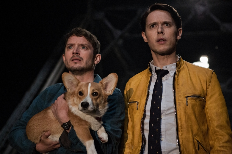 "Elijah Wood and Samuel Barnett, ""Dirk Gently's Holistic Detective Agency"""
