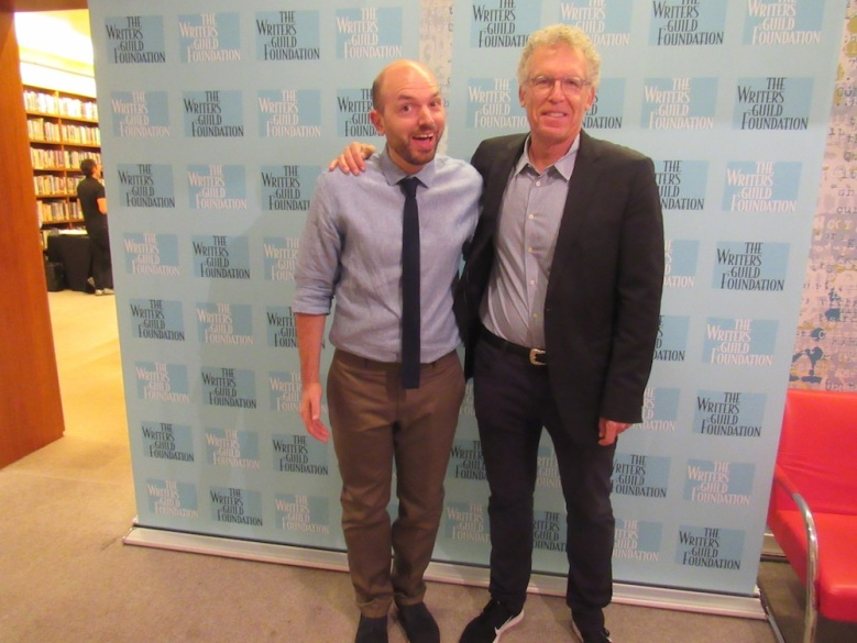 Paul Scheer and Carlton Cuse at the WGA.