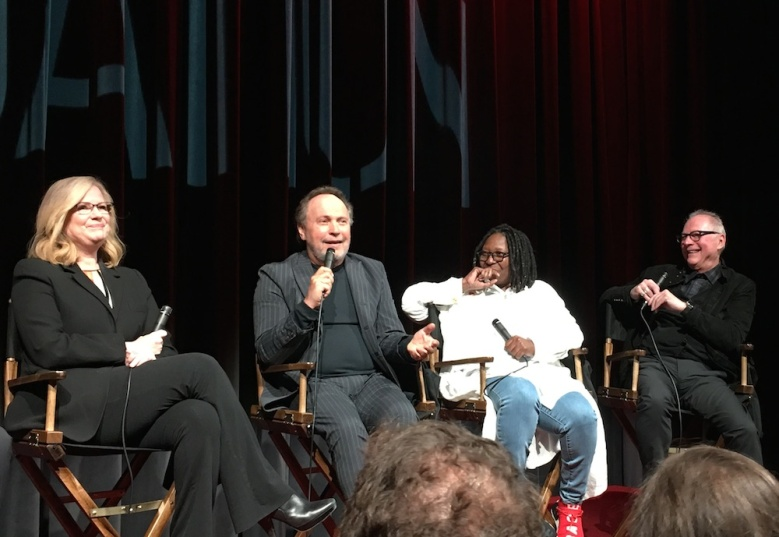Bonnie Hunt, Billy Crystal, Whoopi Goldberg and Barry Levinson