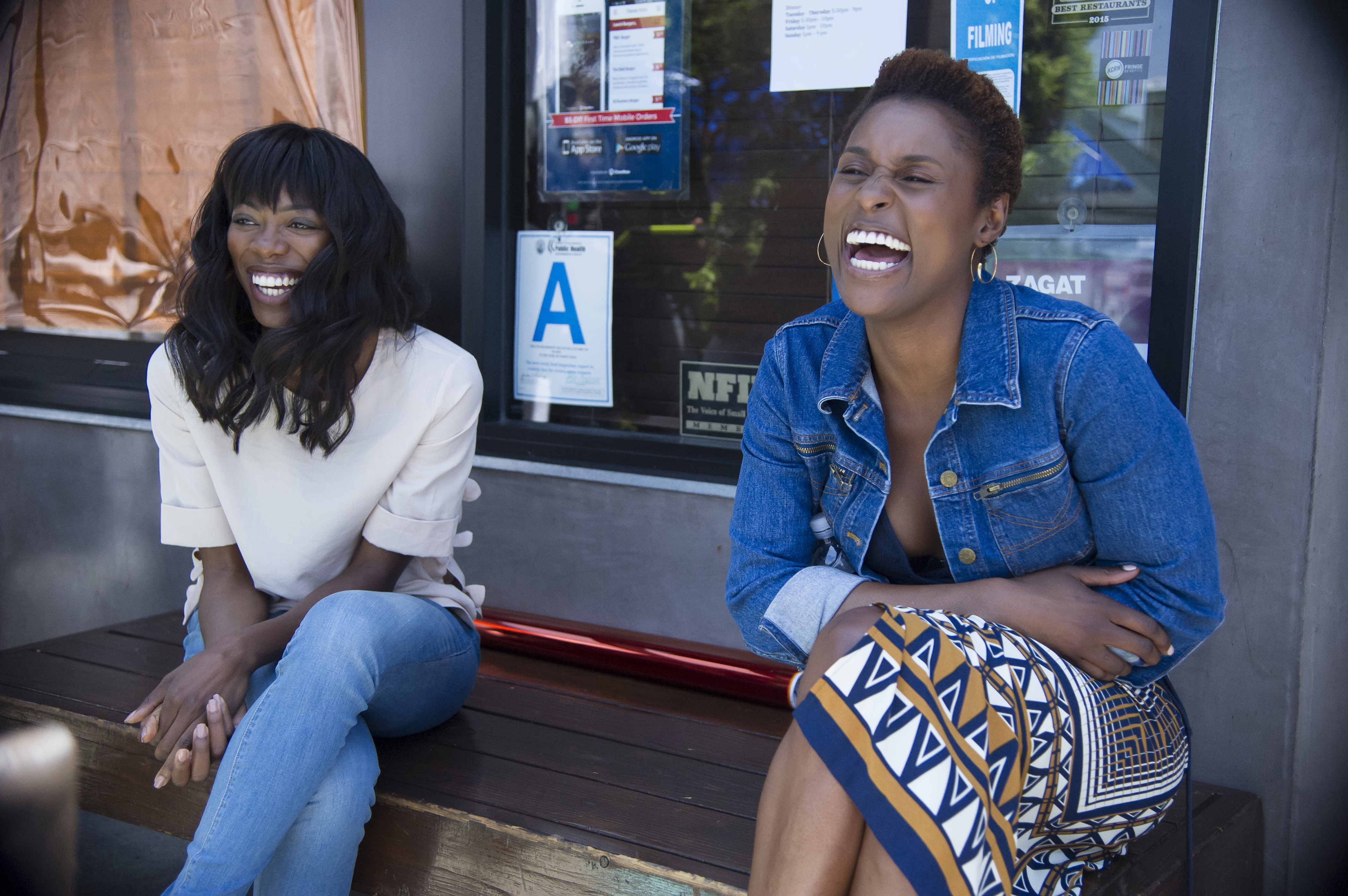 "Yvonne Orji and Issa Rae in HBO's ""Insecure"""