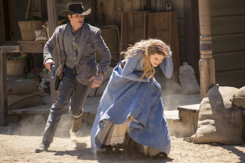 Westworld James Marsden Evan Rachel Wood Episode 1