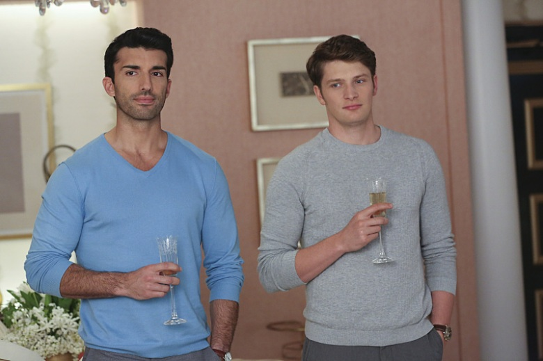 "Justin Baldoni and Brett Dier, ""Jane the Virgin"""
