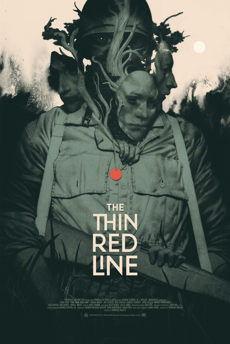 """The Thin Red Line"" Mondo Poster"