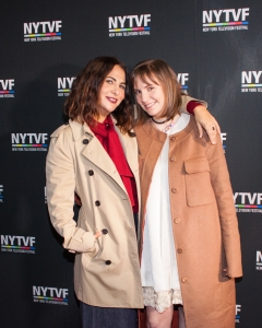 Jenni Konner and Lena Dunham at the New York Television Festival