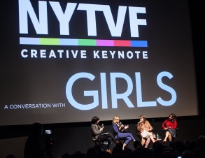 Willa Paskin, Kathleen McCaffrey, Lena Dunham, and Jenni Konner at the New York Television Festival