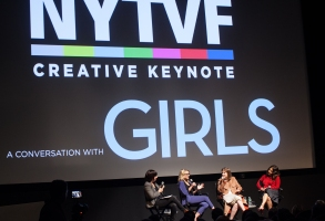 Willa Paskin, Kathleen McCaffrey, Lena Dunham, and Jenni Konner at the New York Television Festival