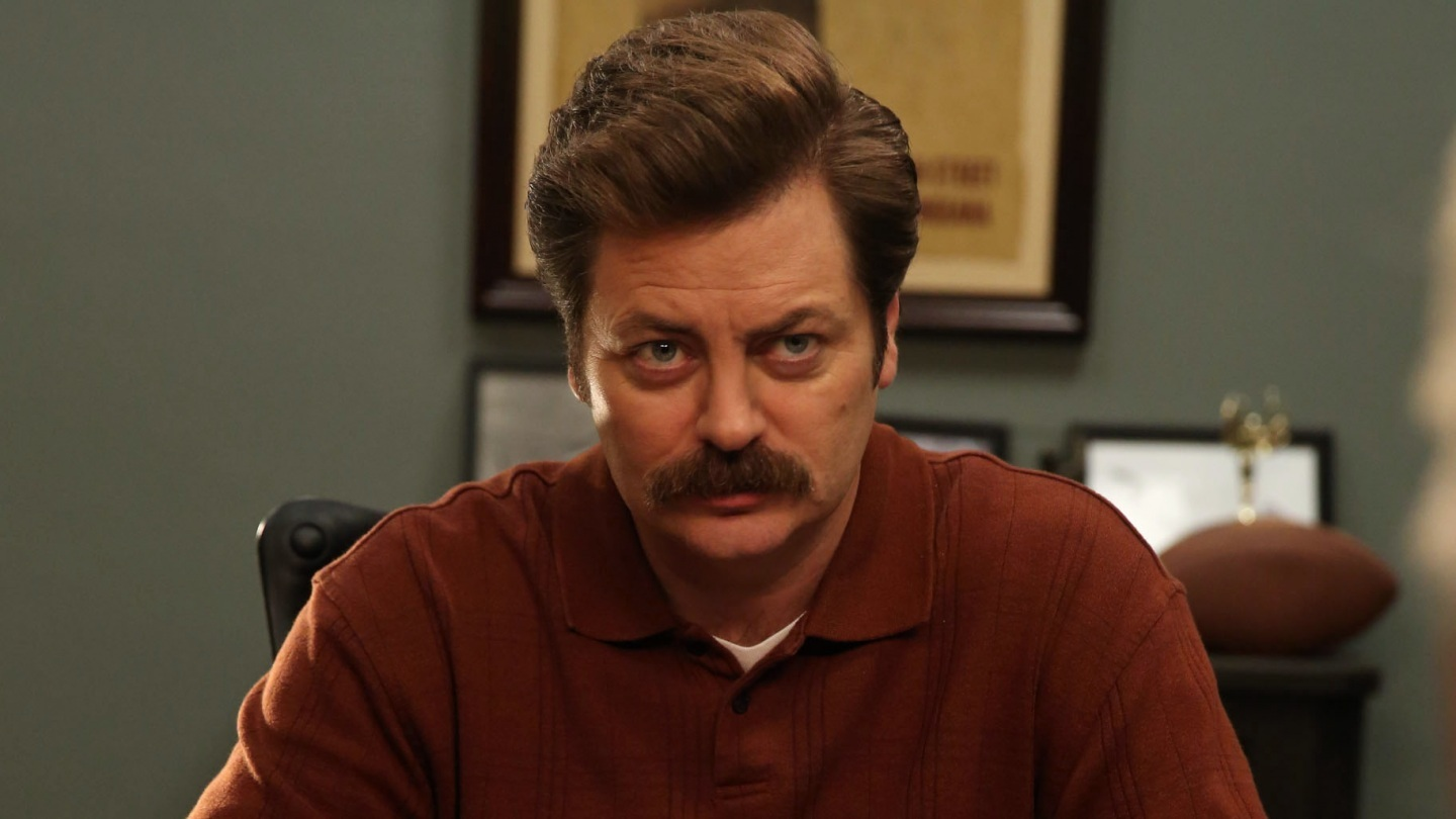 nick offerman reveals how ron swanson would vote in 2016