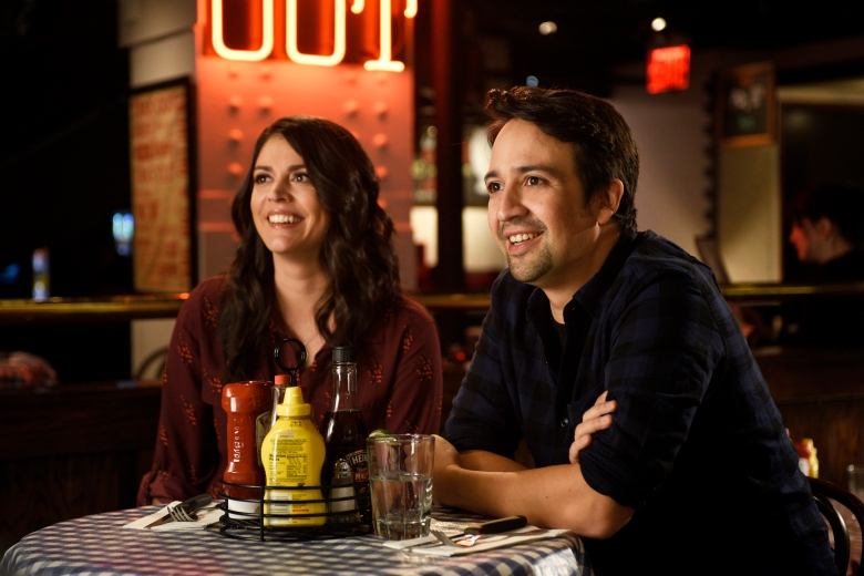 """SATURDAY NIGHT LIVE -- """"Lin-Manuel Miranda"""" Episode 1706 -- Pictured: (l-r) Cecily Strong and host Lin-Manuel Miranda on October 4, 2016 -- (Photo by: Rosalind O'Connor/NBC)"""