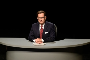 """SATURDAY NIGHT LIVE -- """"Tom Hanks"""" Episode 1708 -- Pictured: Tom Hanks as Chris Wallace during the """"Third Debate Cold Open"""" sketch on October 22, 2016 -- (Photo by: Will Heath/NBC)"""