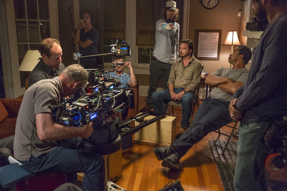 BTS, Executive Producer Ray McKinnon, Aden Young as Daniel, John Marshall Jones as Pickle - Rectify _ Season 4, Episode 1