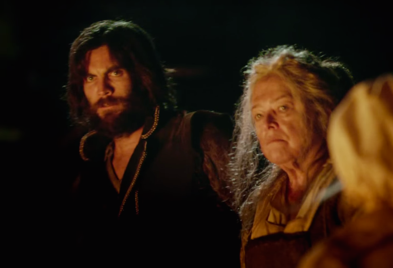 "Wes Bentley and Kathy Bates in ""American Horror Story."""