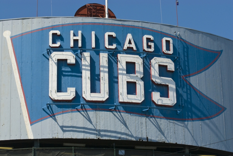 Chicago Cubs sign at Wrigley Field Shutterstock ID 16612669