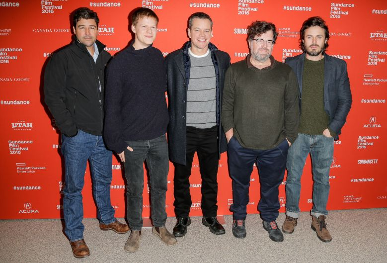 Kyle Chandler, Lucas Hedges, Matt Damon, Kenneth Lonergan, Casey Affleck at 'Manchester By The Sea' Sundance premiere.
