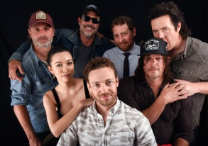 Andrew Lincoln, Christian Serratos, Ross Marquard, Jeffrey Dean Morgan, Scott M. Gimple, Norman Reedus and Josh McDermitt, 'The Walking Dead'
