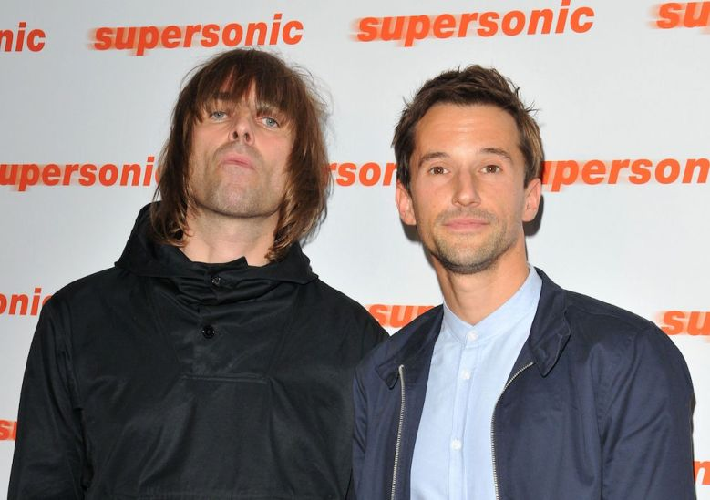 "Liam Gallagher and ""Oasis: Supersonic"" director Mat Whitecross"