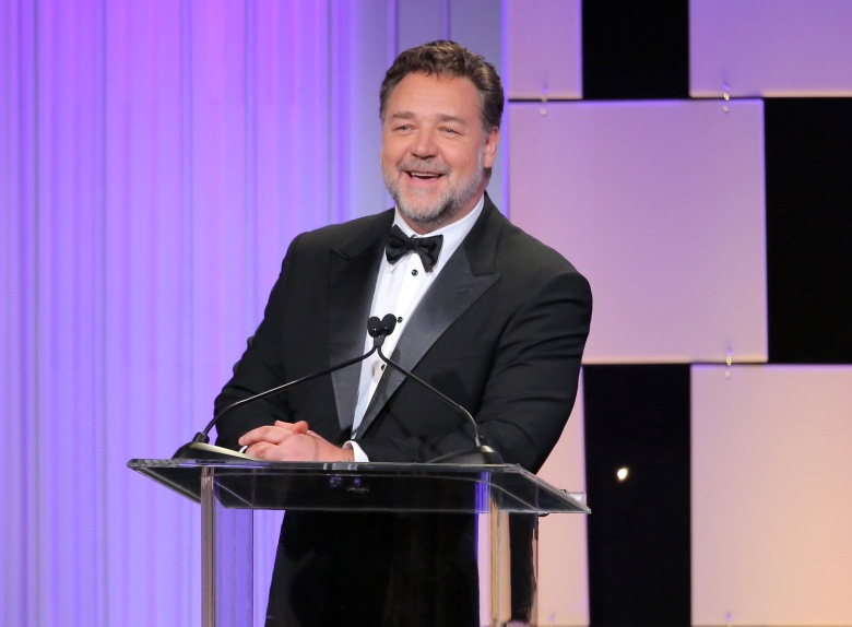 Russell Crowe at the 30th Annual American Cinematheque Awards.