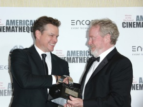 Matt Damon and Ridley Scott at the American Cinematheque Awards.