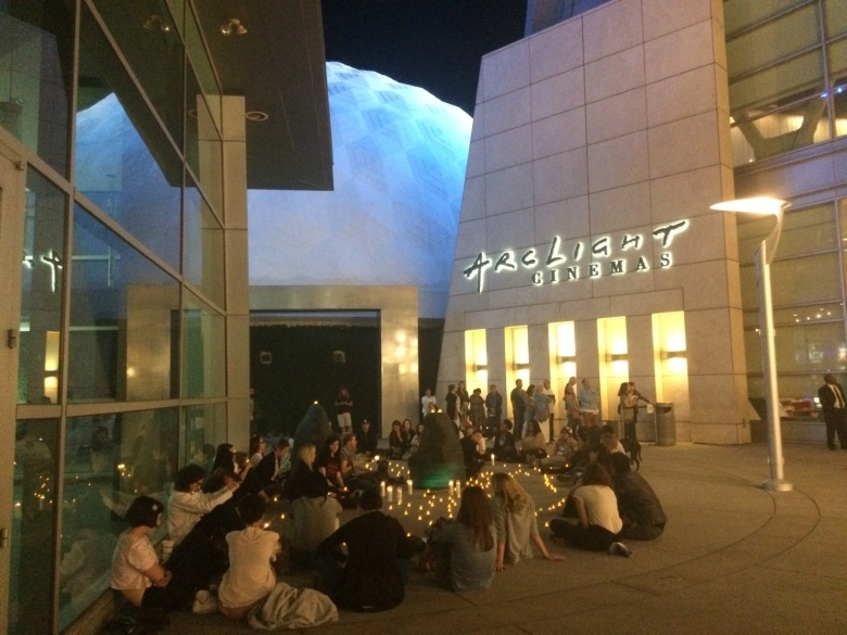 """Protestors sit in silence as """"The Birth of a Nation"""" premieres at Arclight Hollywood."""