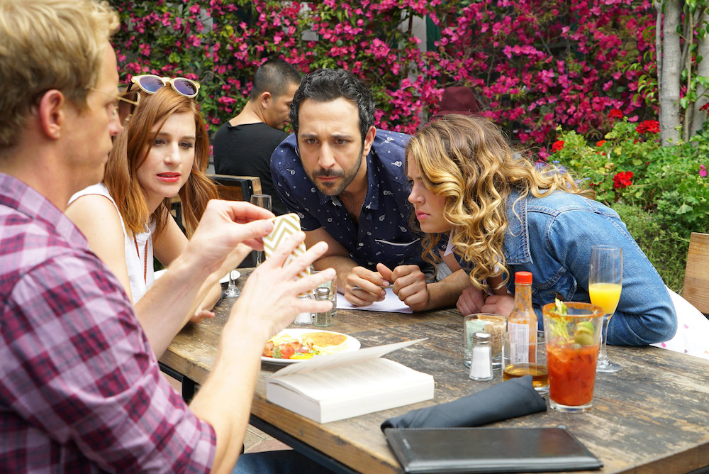 "YOU'RE THE WORST -- ""The Last Sunday Funday"" -- Episode 306 (Airs Wednesday, October 5, 10:00 pm e/p -- Pictured: (l-r) Chris Geere as Jimmy Shive-Overly, Aya Cash as Gretchen Cutler, Desmin Borges as Edgar Quintero, Kether Donohue as Lindsay Jillian"