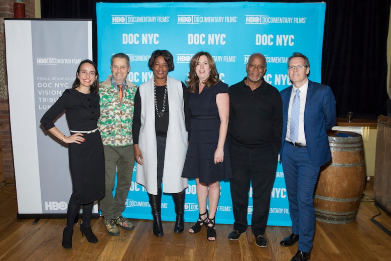 Rapheala Neihausen, Jonathan Demme, Dawn Porter, Molly Thompson, Stanley Nelson and Thom Powers