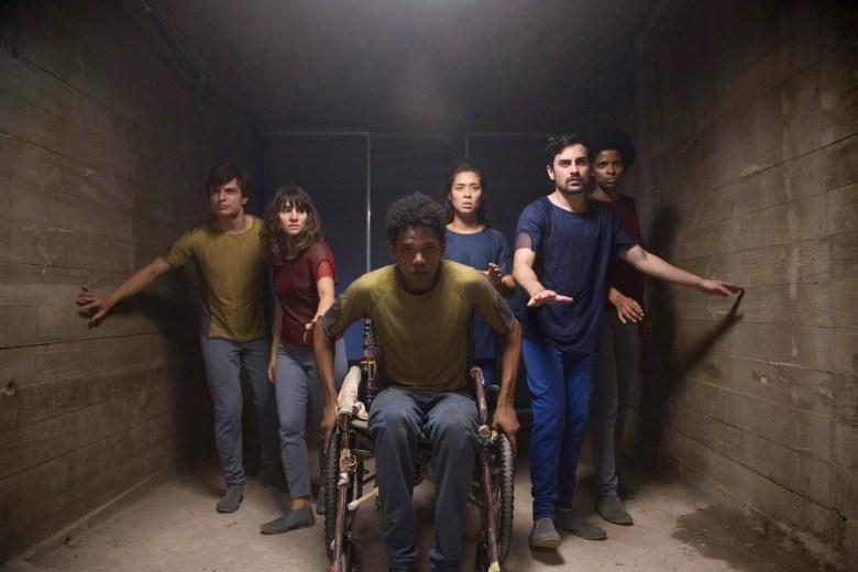 """Rafael Losango, Bianca Comparato, Michel Gomes, Rodolfo Valente and Vaneza Oliveira in """"3%."""""""