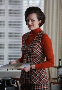 Elisabeth Moss as Peggy Olson - Mad Men _ Season 6, Episode 13 _ 'In Care of' - Photo Credit: Jamie Trueblood/AMC