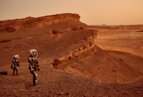 Some of the crew exploring Mars. The global event series MARS premieres on the National Geographic Channel in November 2016