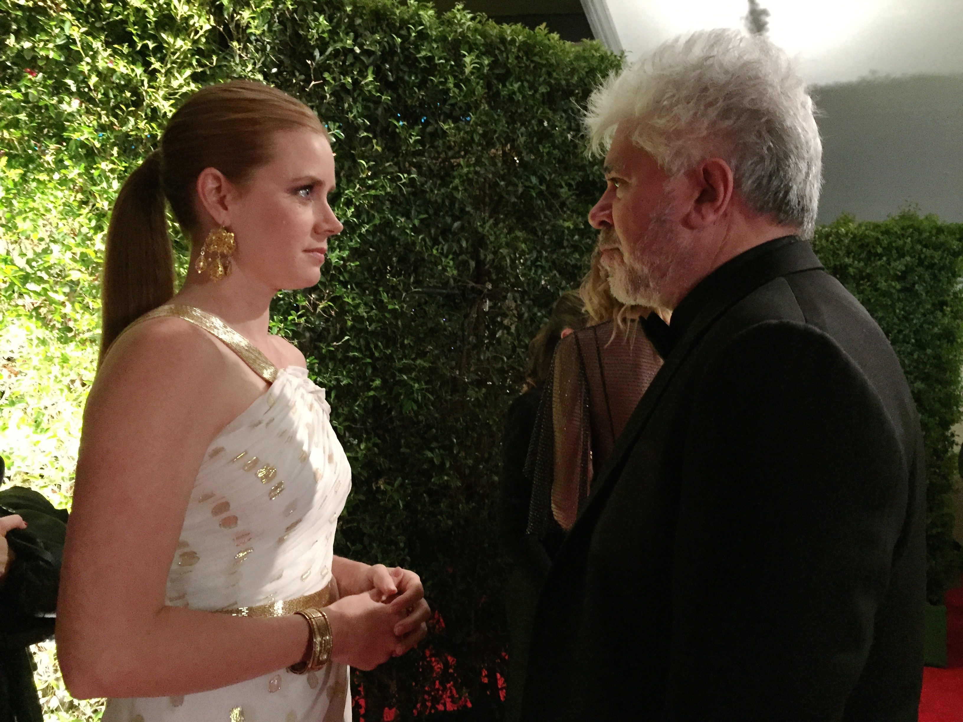 Amy Adams and Pedro Almoddovar