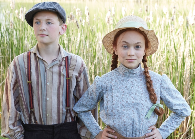 "Drew Haytaoglu as Gilbert Blythe and Ella Ballentine as Anne Shirley, ""Anne of Green Gables"""