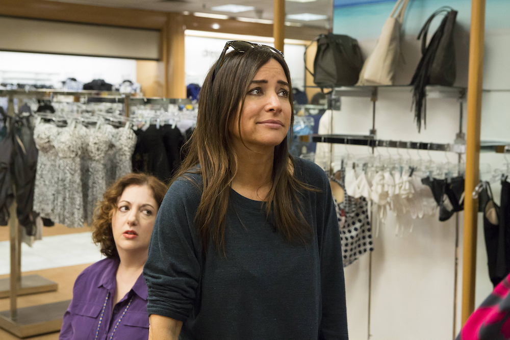 "BETTER THINGS ""Only Women Bleed"" Episode 10 Rebecca Metz as Tressa, Pamela Adlon as Sam Fox"