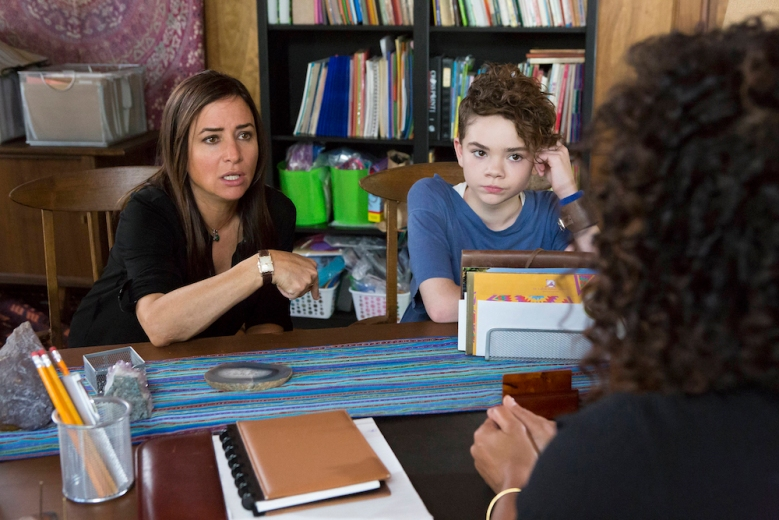"BETTER THINGS ""Only Women Bleed"" Episode 10 (Airs Thursday, November 10, 10:00 pm/ep) -- Pictured: (l-r) Pamela Adlon as Sam Fox, Hannah Alligood as Frankie"