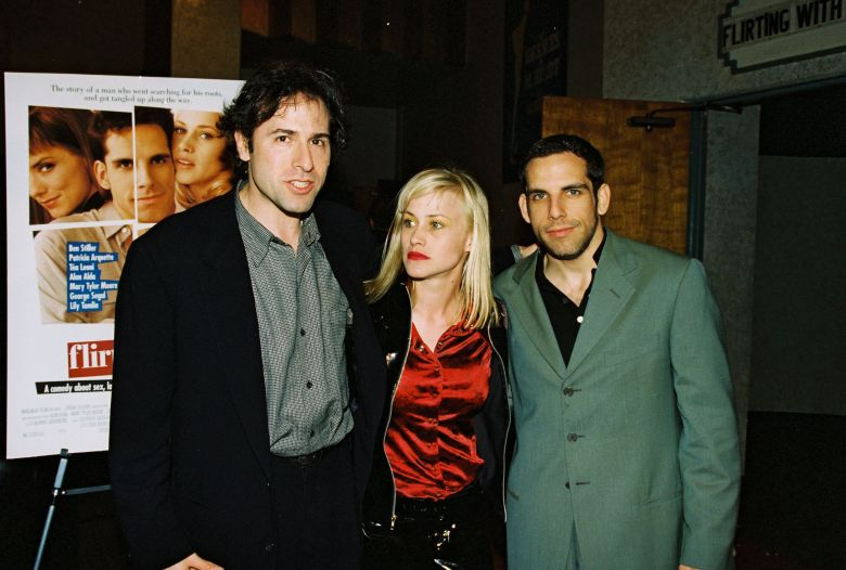 "David O. Russell, Patricia Arquette and Ben Stiller at the Los Angeles premiere of ""Flirting With Disaster"" in 1996"