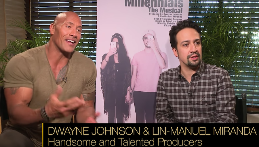 Dwayne Johnson and Lin-Manuel Miranda Millennials The Musical Video