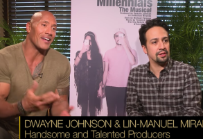 Dwayne Johnson Lin-Manuel Miranda