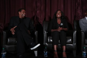"Denzel Washington and Viola Davis at the LA Guild Screening of ""Fences"" at the Regency Village Theatre."