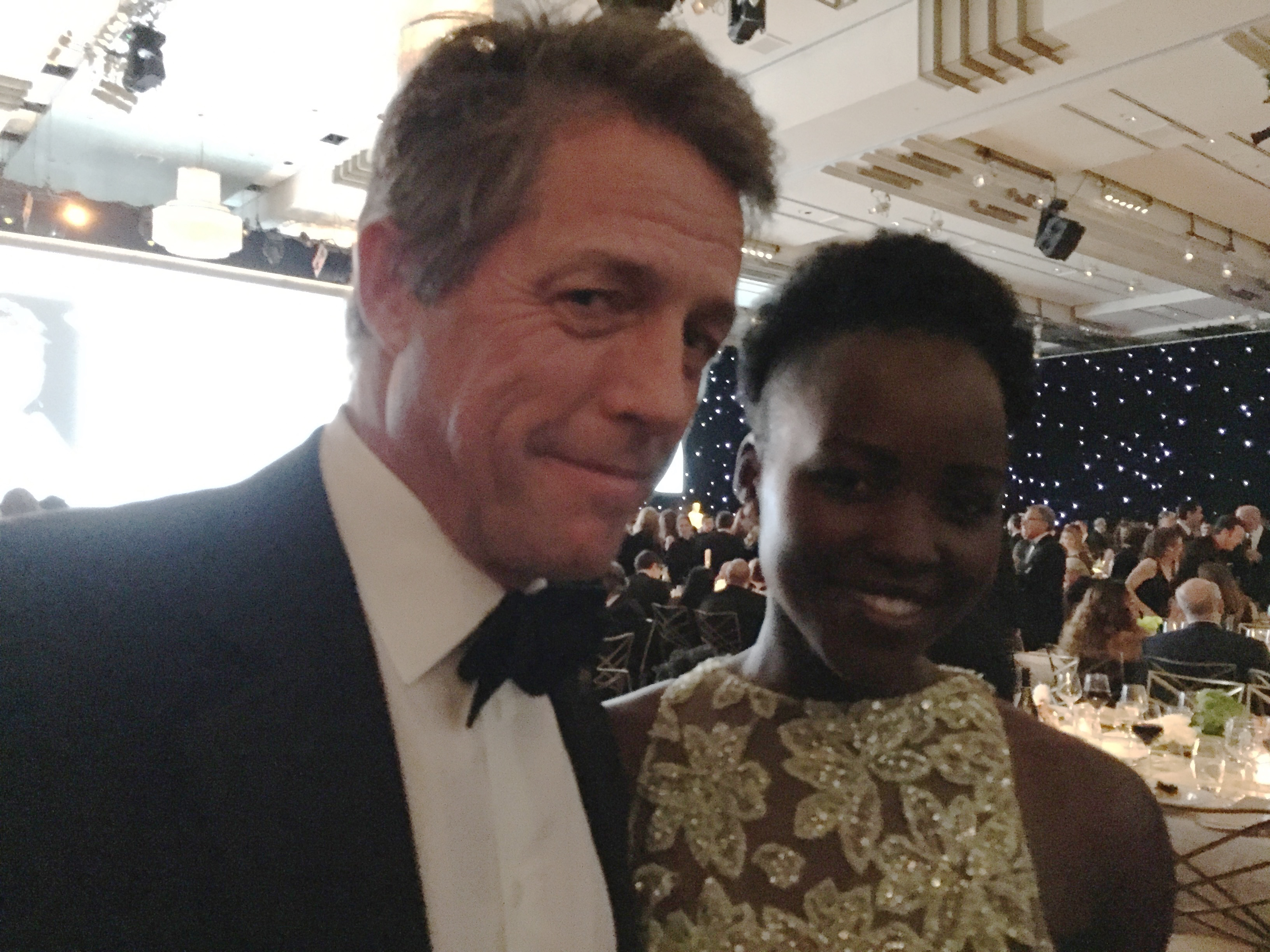 Hugh Grant and Lupita Nyong'o