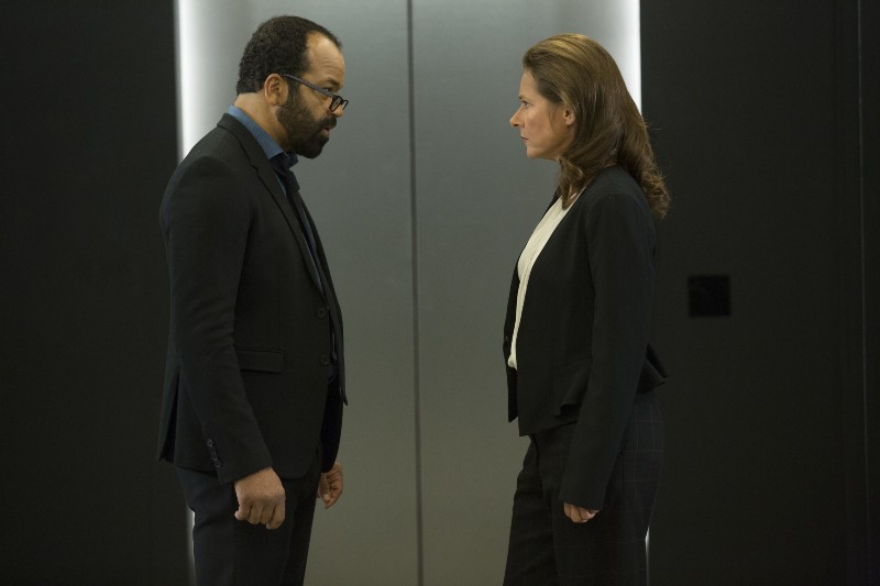Jeffrey Wright as Bernard and Sidse Babett Knudsen as Theresa Cullen.