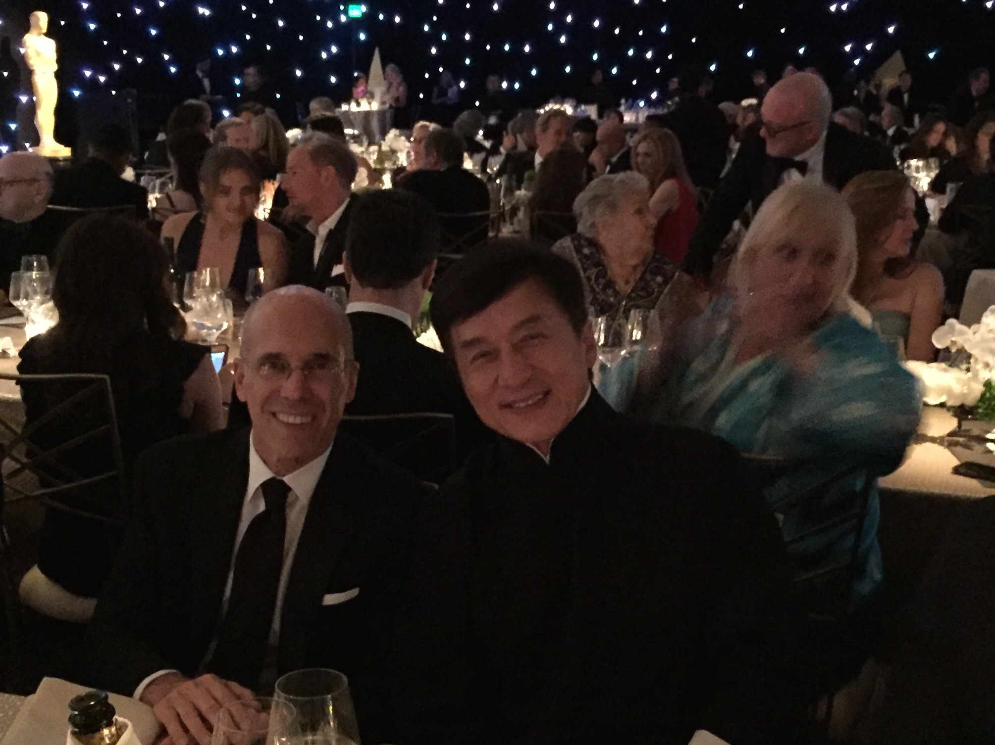 Jeffrey Katzenberg and Jackie Chan