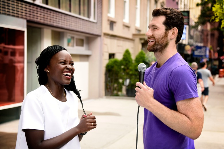 """Lupita Nyong'o and Billy Eichner on """"Billy on the Street"""""""