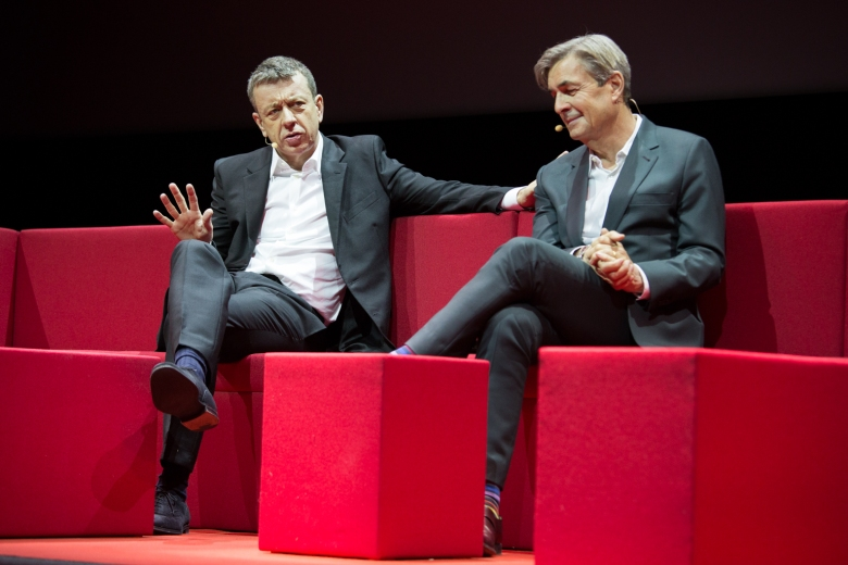 Netflix Event, Paris 11.04.2016 The Crown Panel Peter Morgan, Andy Harries