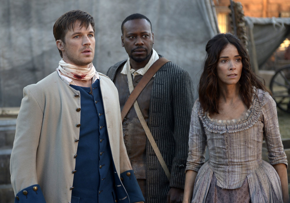 "TIMELESS -- ""Stranded"" Episode 106 Matt Lanter, Malcolm Barrett, Abigail Spencer"