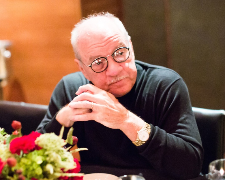 Paul Schrader at a Manhattan restauraunt