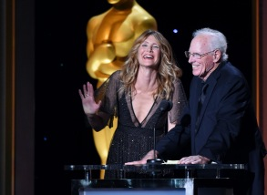 Bruce Dern and Laura Dern at The Governors Awards