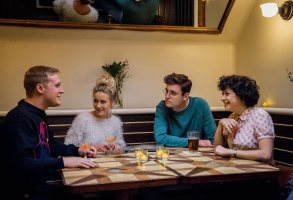 Search Party Season 1 John Early, Meredith Hagner, John Reynolds, Alia Shawkat