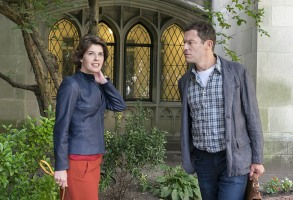 """Irene Jacob and Dominic West in """"The Affair."""""""