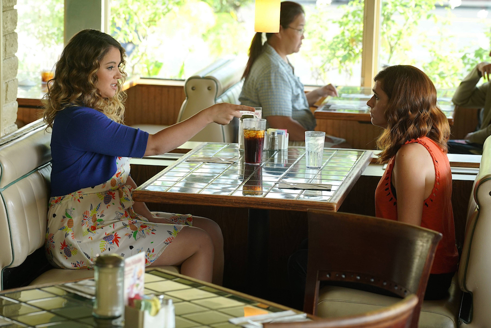 "YOU'RE THE WORST -- ""Talking To Me, Talking to Me"" -- Episode 310 (Airs Wednesday, November 2, 10:00 pm e/p -- Pictured: (l-r) Kether Donohue as Lindsay Jillian, Aya Cash as Gretchen Cutler"