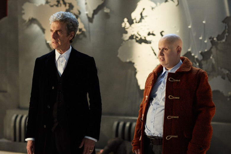 "Peter Capaldi and Matt Lucas, ""Doctor Who: The Return of Doctor Mysterio"""