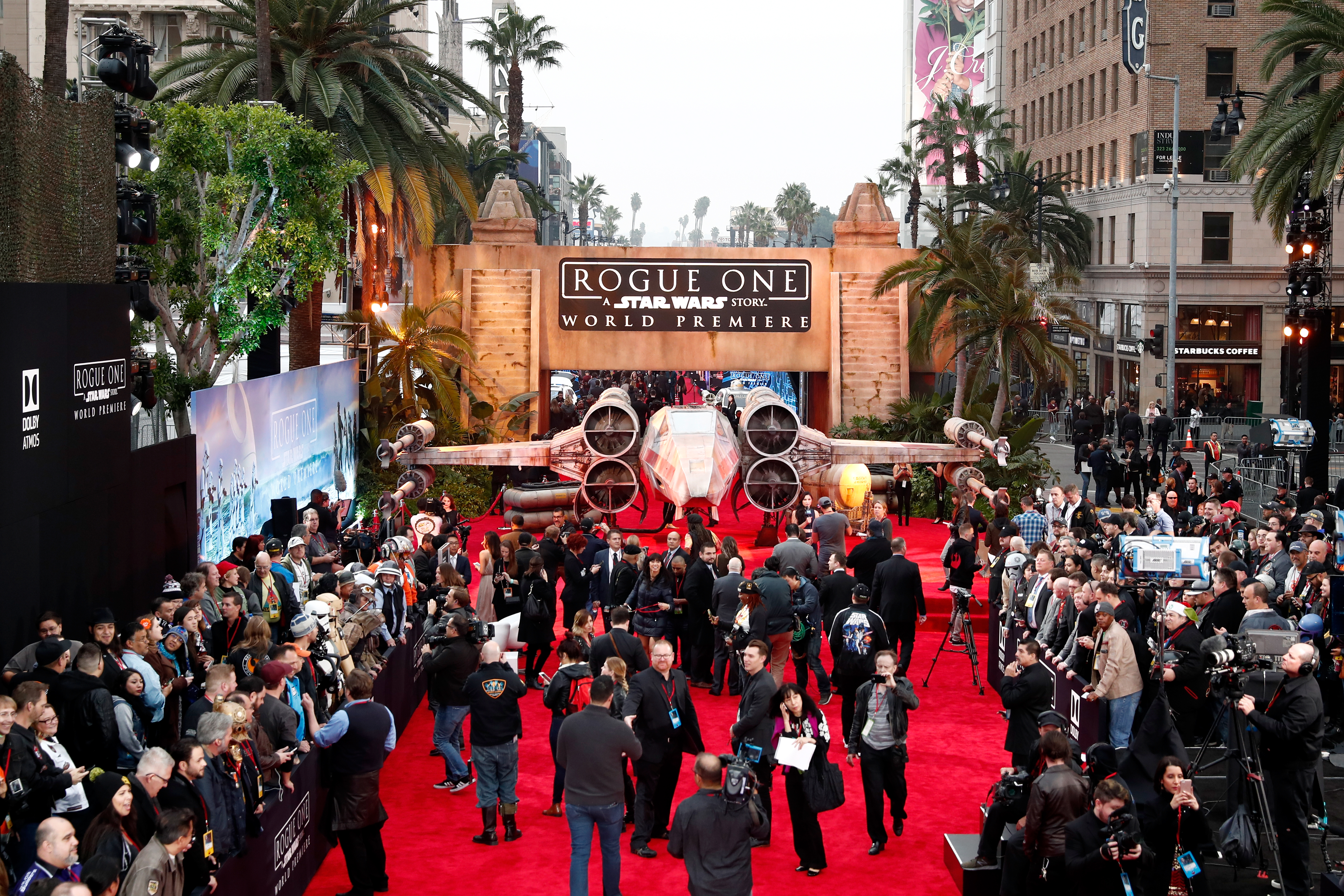 rogue one premiere photos star wars arrives in hollywood rogue one the first of three standalone star wars movies planned arrives in theaters this friday 16