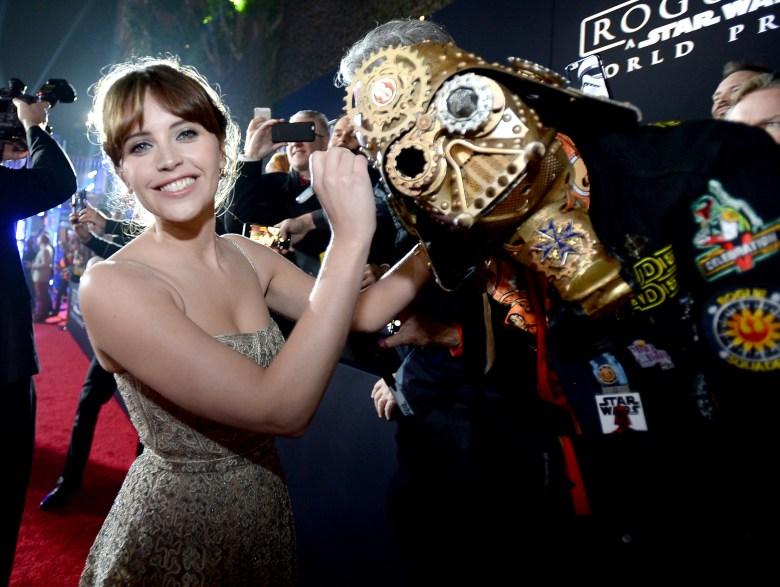 Felicity Jones Star Wars Rogue One Premiere