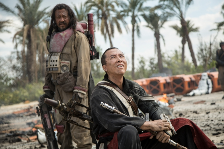 Jiang Weng and Donnie Yen in Rogue One: A Star Wars Story